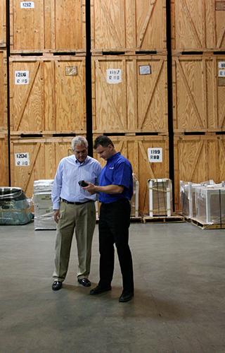Customer in a Warehouse